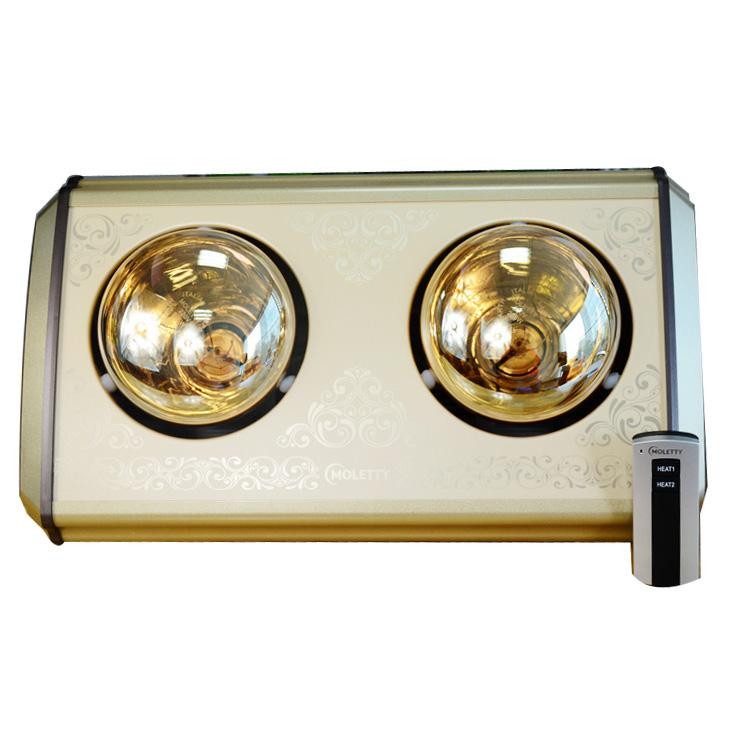Đèn sưởi 2 bóng vàng Milor ML 6002V