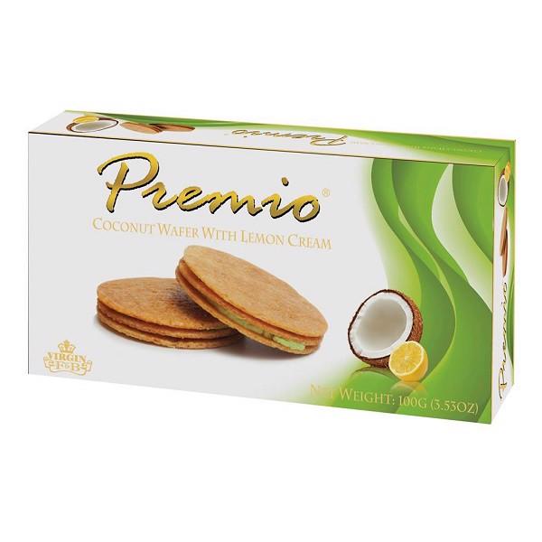 Bánh kẹp hương chanh Premio 100g