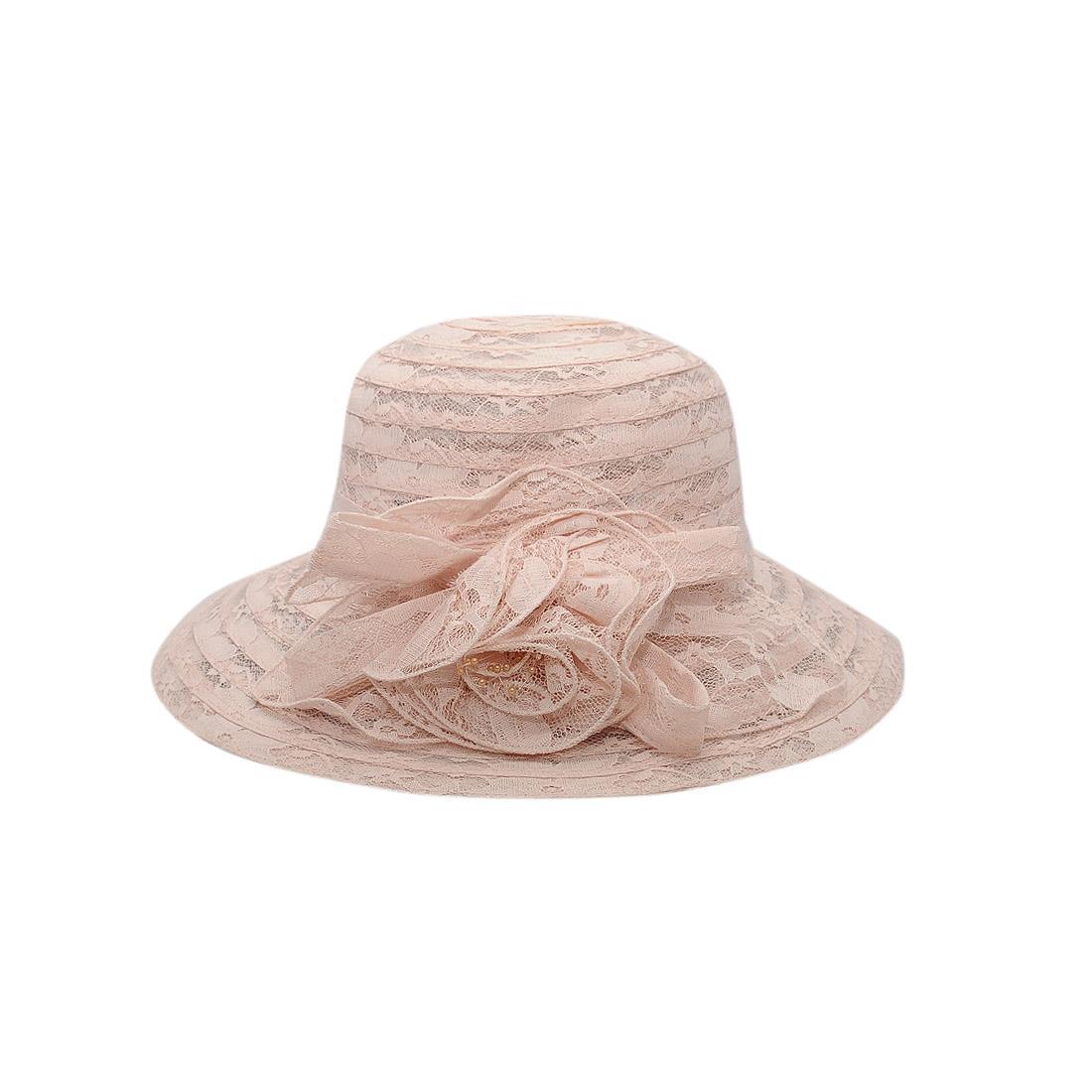 Nón nữ cao cấp màu be hồng EH17-3