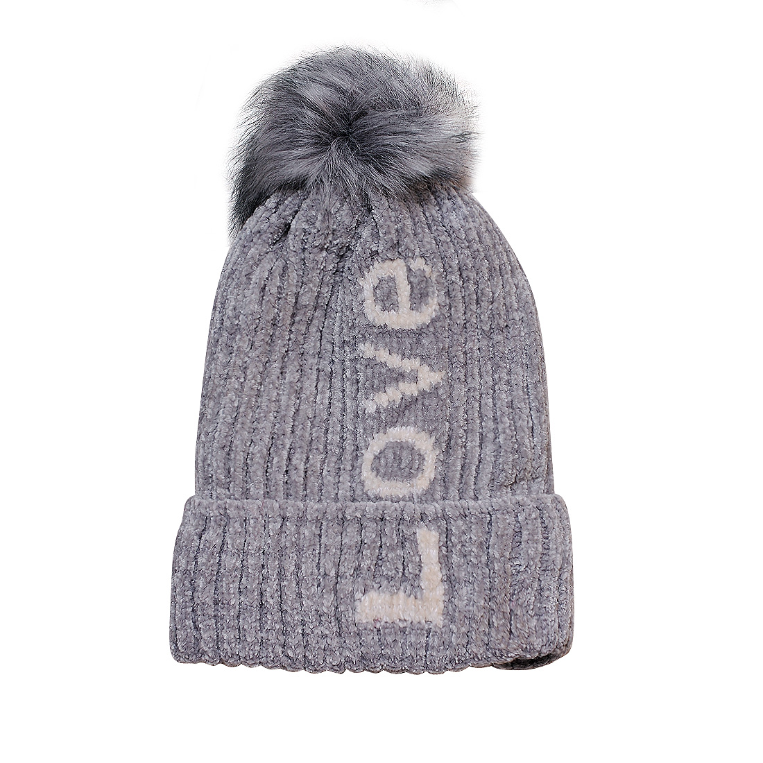Mũ len thời trang cao cấp màu ghi EH46-3