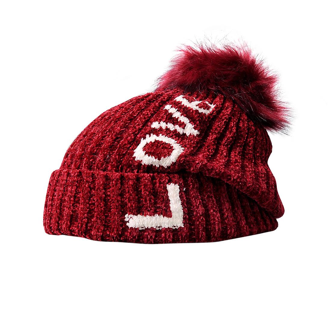 Mũ len thời trang cao cấp màu đỏ đô EH46-2