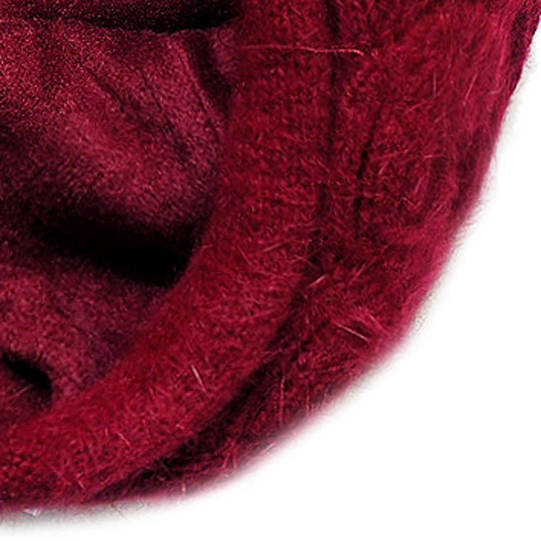 Mũ len thời trang cao cấp màu đỏ đô EH48-1