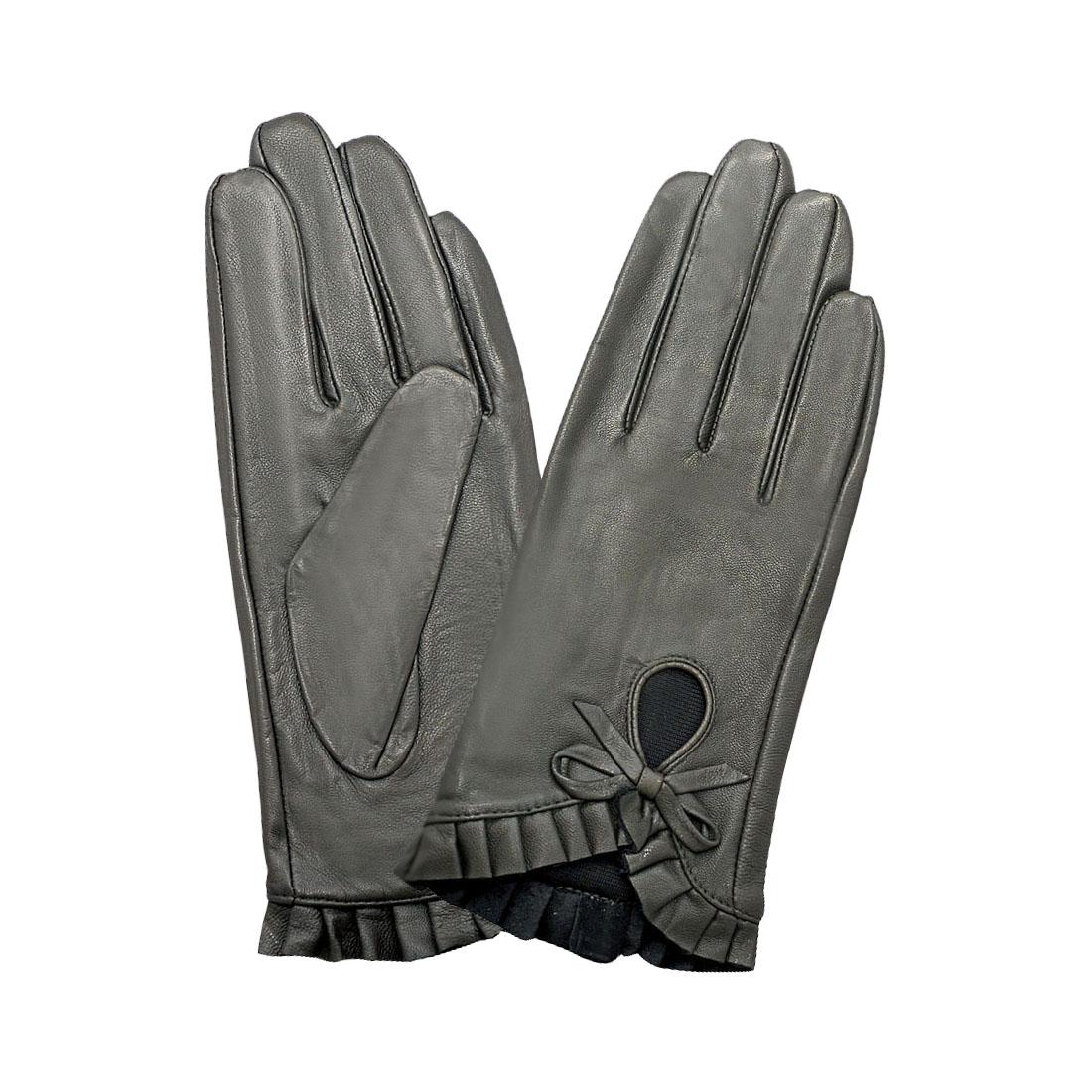 Găng tay nữ da dê thật cao cấp EGW95
