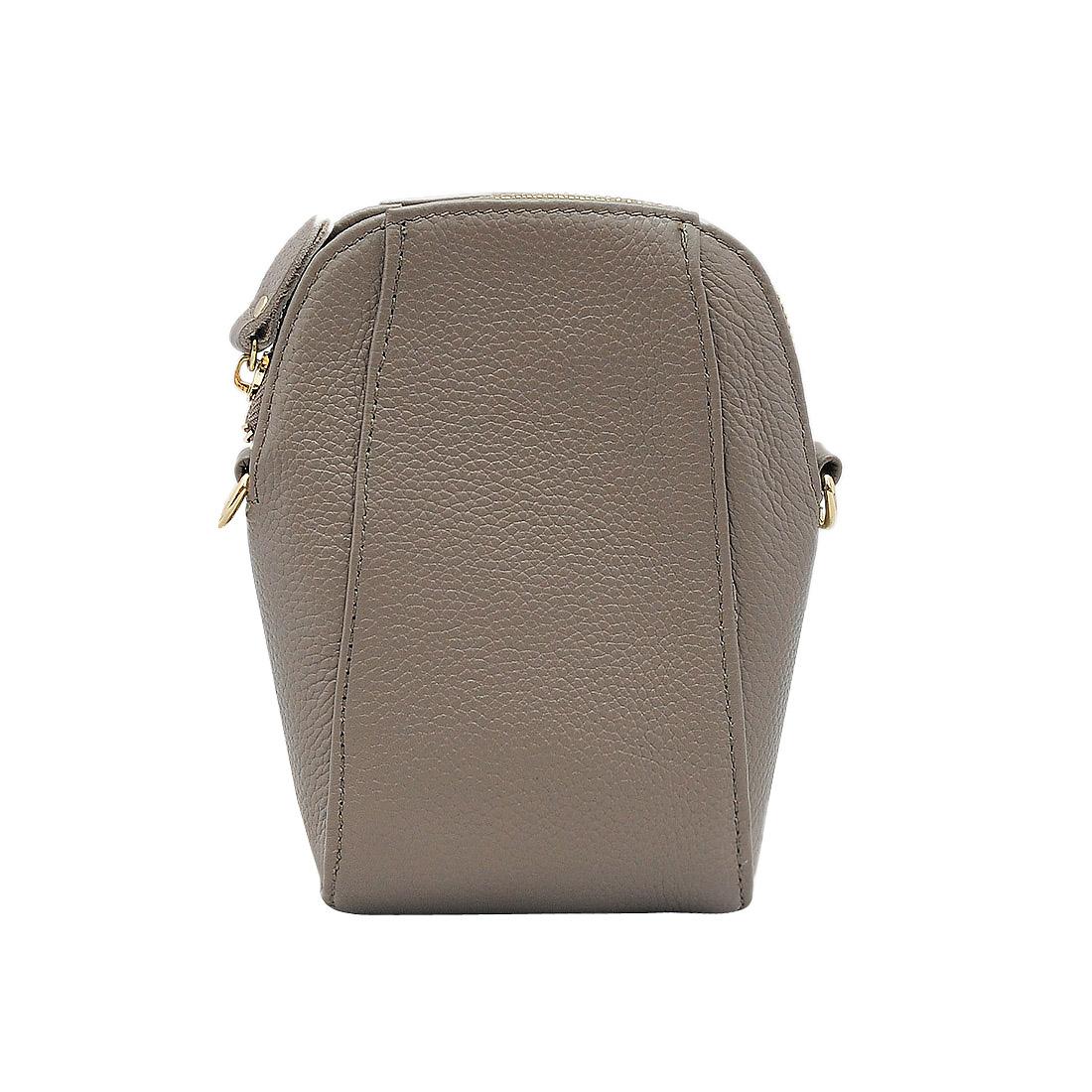 Túi đeo chéo nữ ELMI da bò thật cao cấp màu ghi ET579