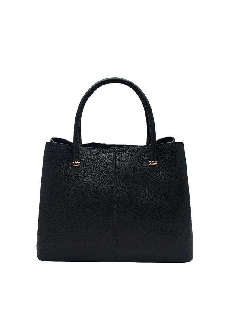 Túi xách nữ ELMI da bò thật cao cấp màu đen EB139