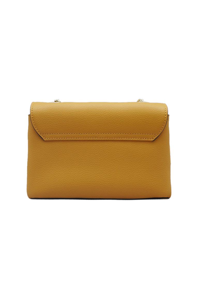 Túi đeo chéo nữ ELMI da bò thật cao cấp màu vàng EB147