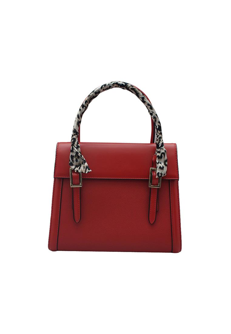 Túi xách nữ ELMI da bò thật cao cấp màu đỏ EB150