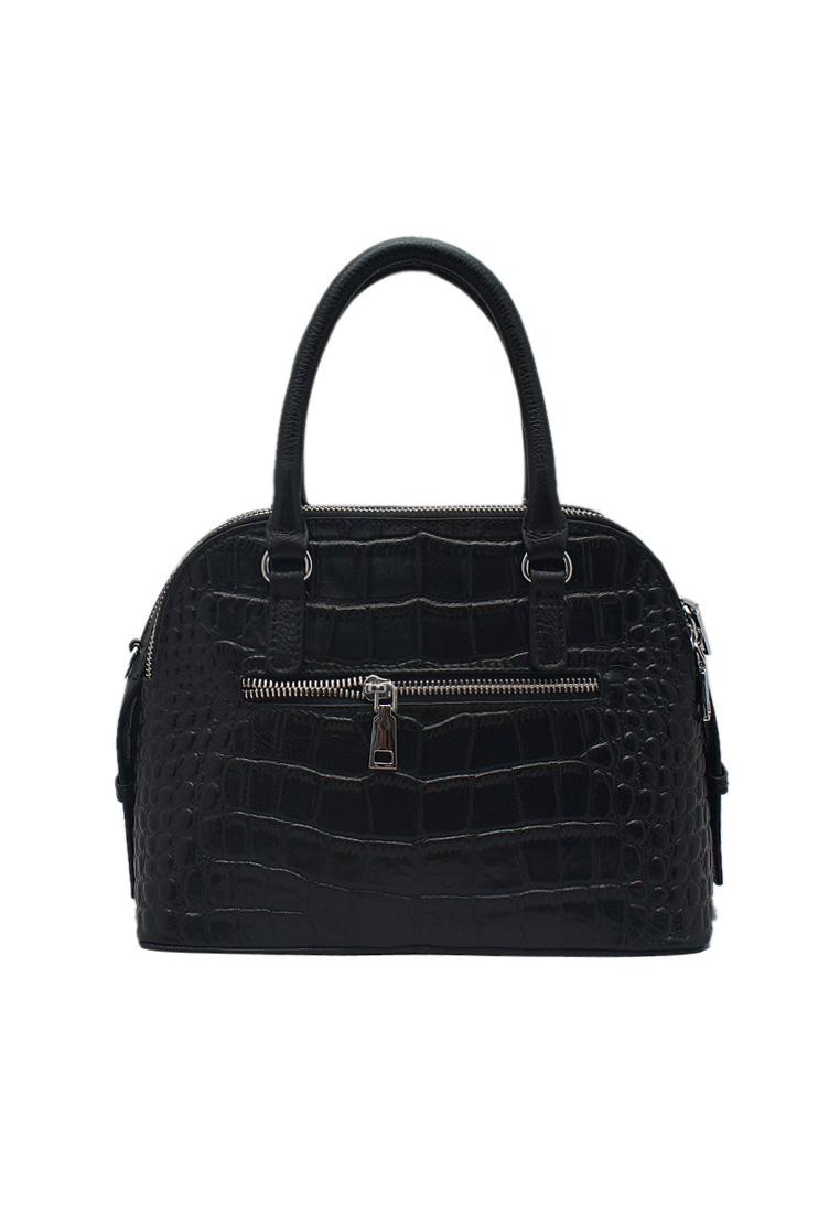 Túi xách nữ ELMI da bò thật cao cấp màu đen EB152