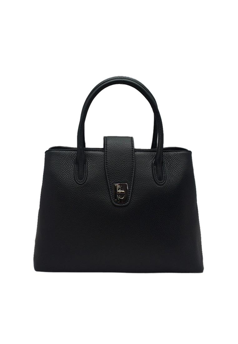 Túi xách nữ ELMI da bò thật cao cấp màu đen EB155