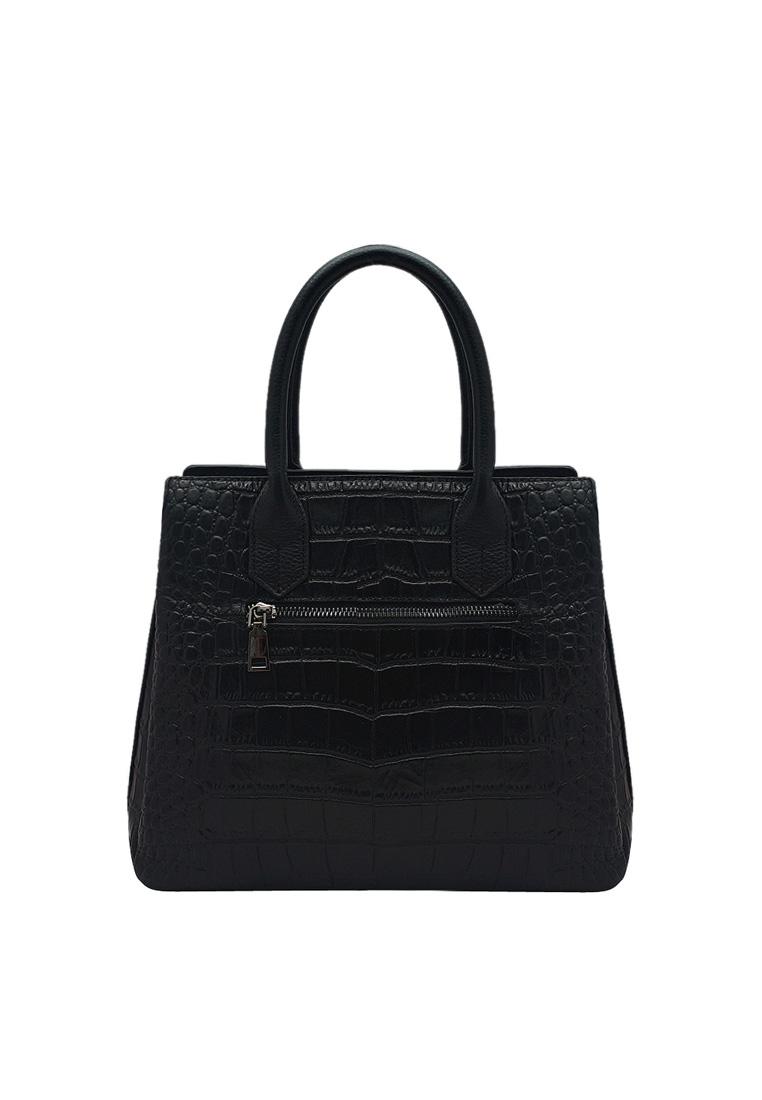 Túi xách nữ ELMI da bò thật cao cấp màu đen EB156