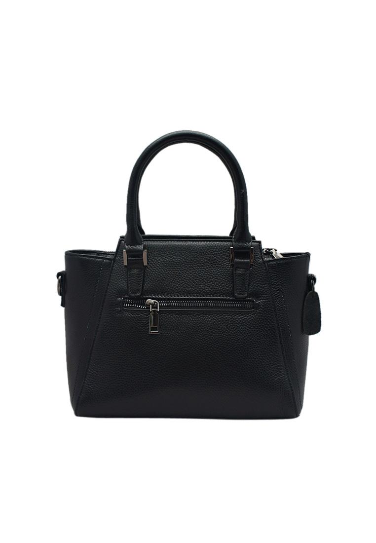 Túi xách nữ ELMI da bò thật cao cấp màu đen EB157