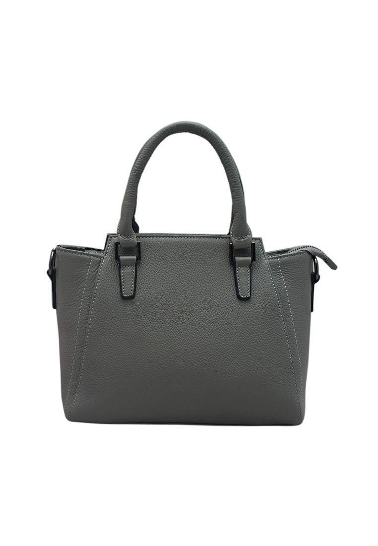 Túi xách nữ ELMI da bò thật cao cấp màu ghi EB159