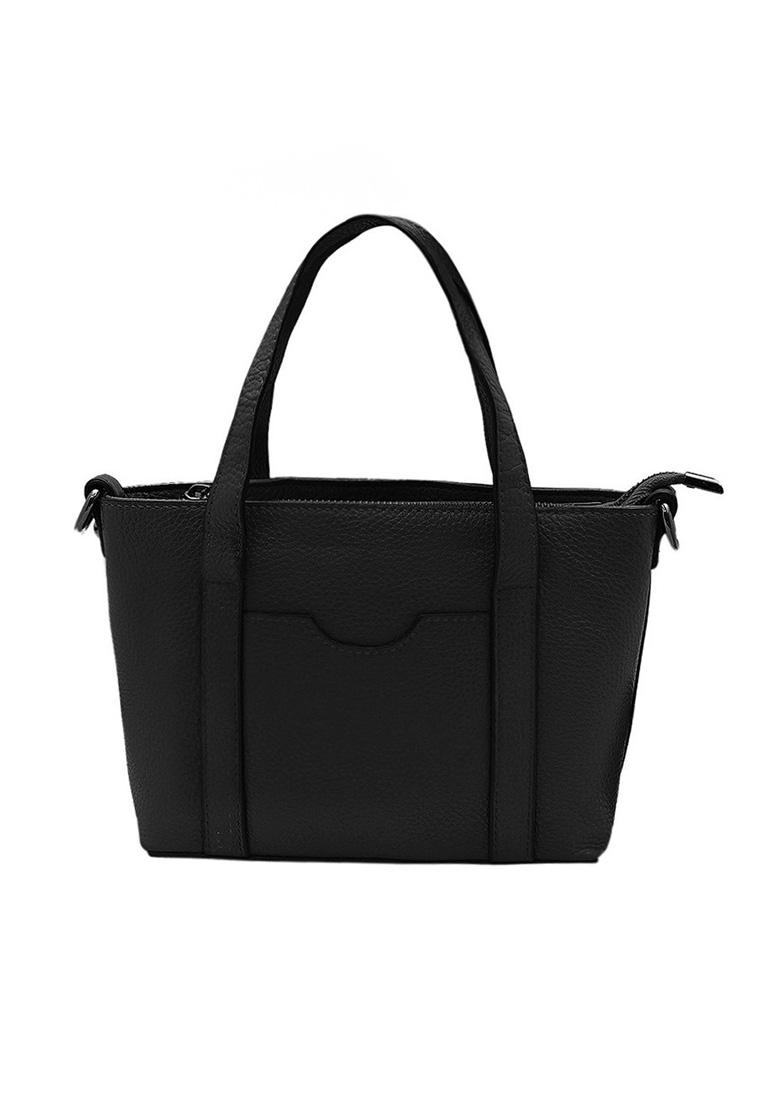 Túi xách nữ ELMI da bò thật cao cấp màu đen EB163