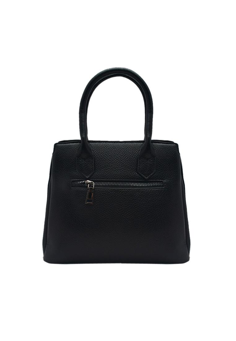 Túi xách nữ ELMI da bò thật cao cấp màu đen EB176