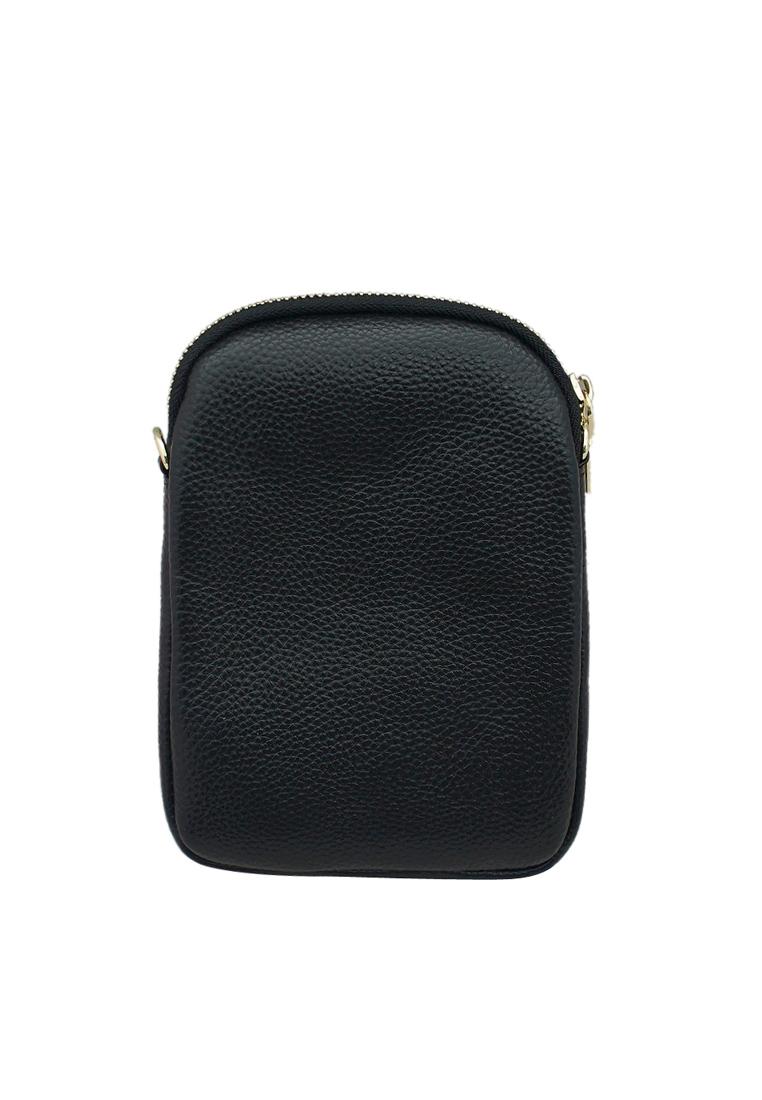 Túi đeo chéo nữ ELMI da bò thật cao cấp màu đen EB246