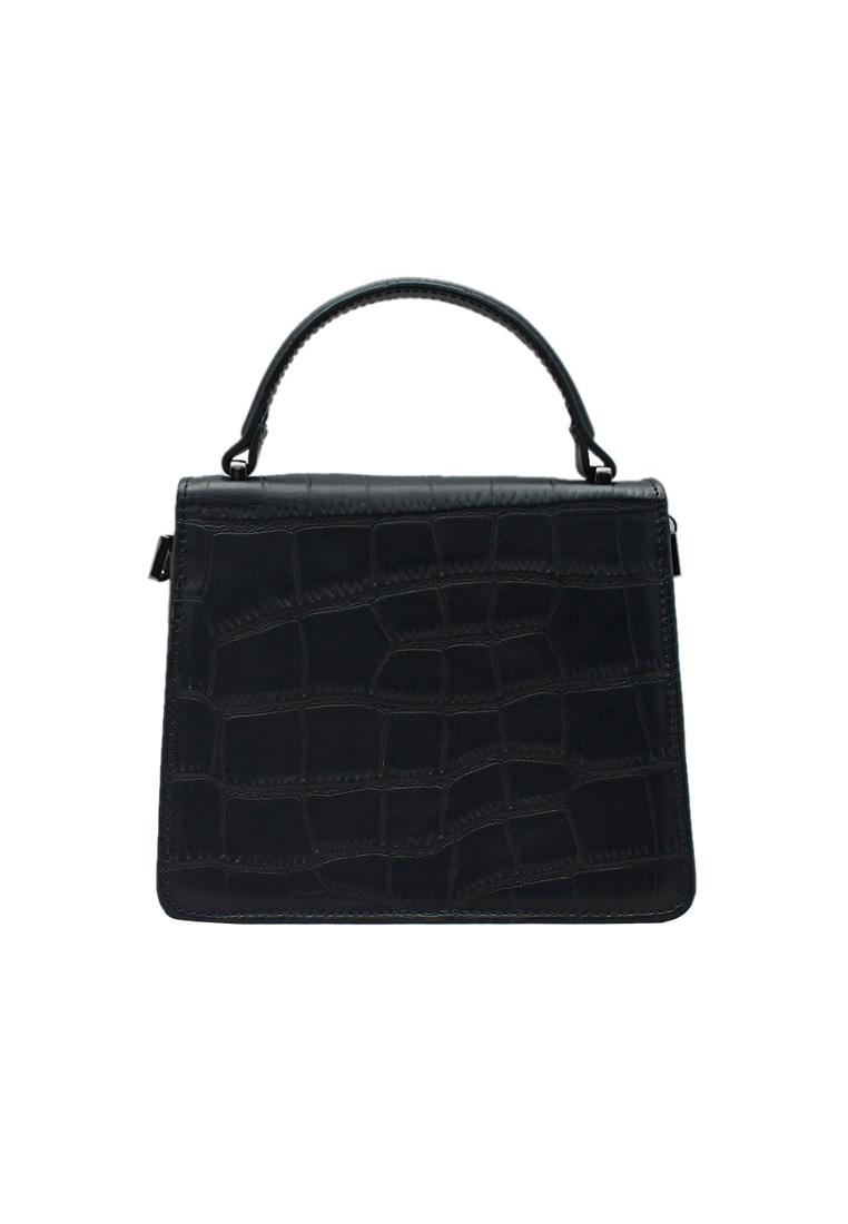 Túi xách nữ ELMI da bò thật cao cấp màu đen EB256