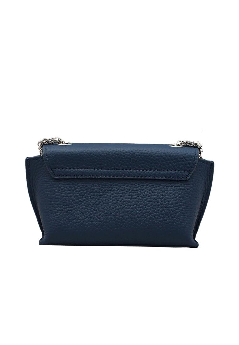 Túi đeo chéo nữ da bò thật cao cấp ELMI màu xanh đen EB262