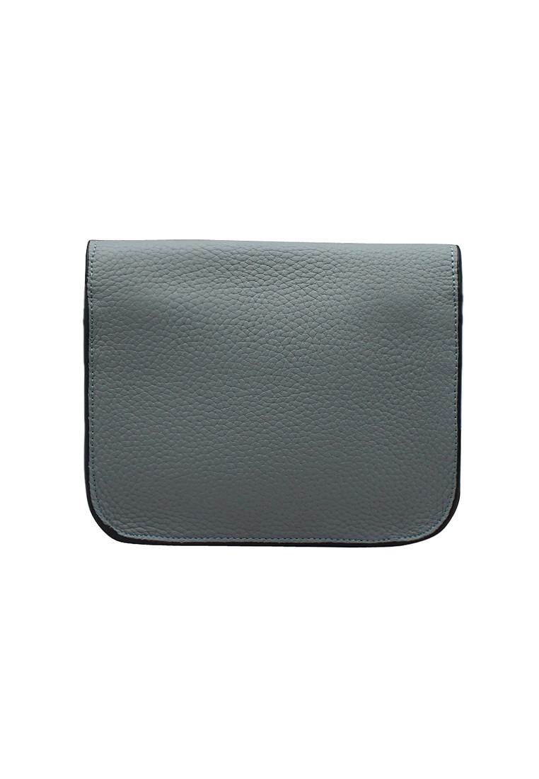 Túi đeo chéo nữ ELMI da bò thật cao cấp màu xanh EB269