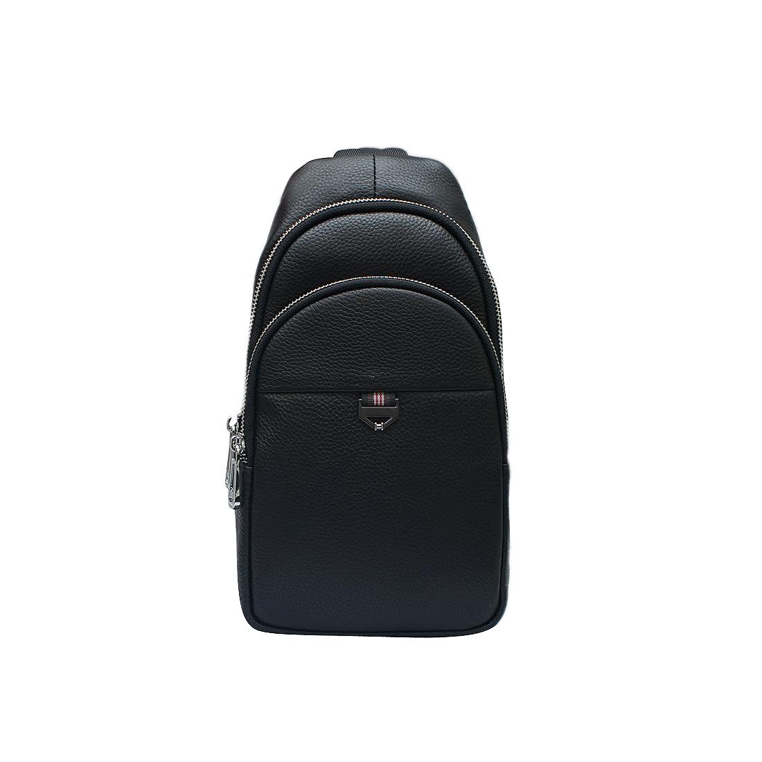 Túi đeo vai nam da bò thật cao cấp màu đen EB304