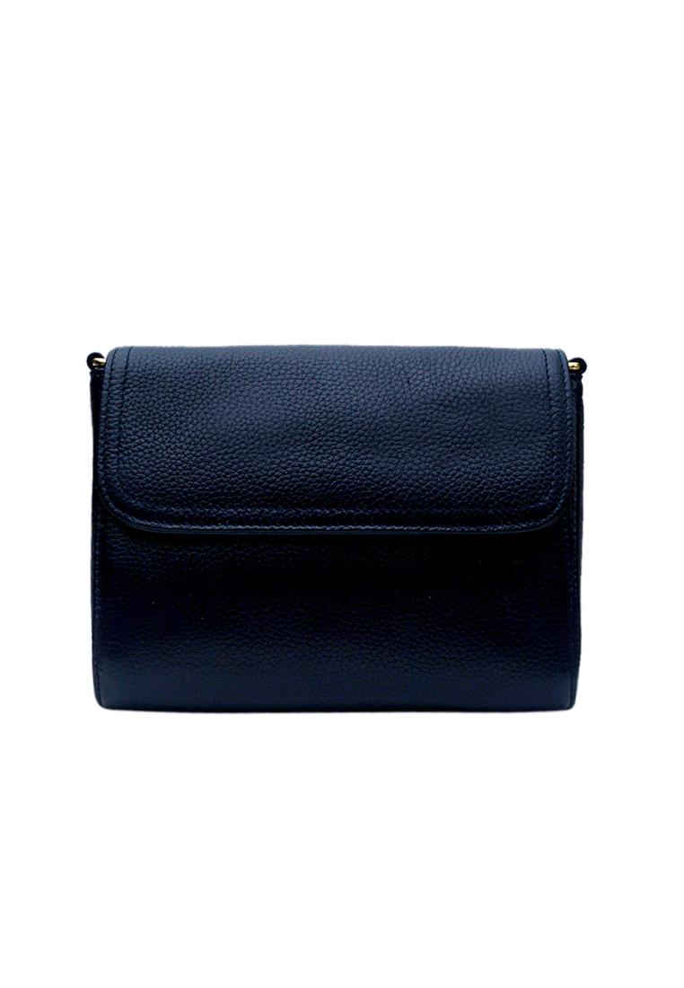 Túi đeo chéo nữ ELMI da bò cao cấp màu xanh đen EB320