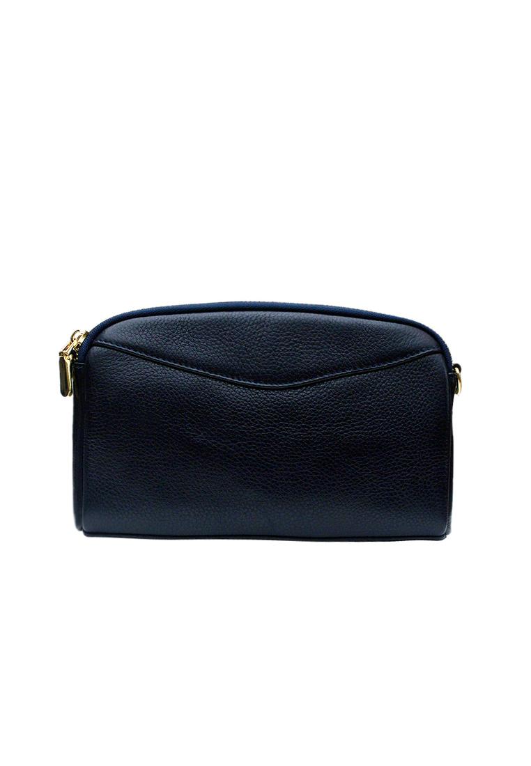 Túi đeo chéo nữ ELMI da bò cao cấp màu xanh đen EB328