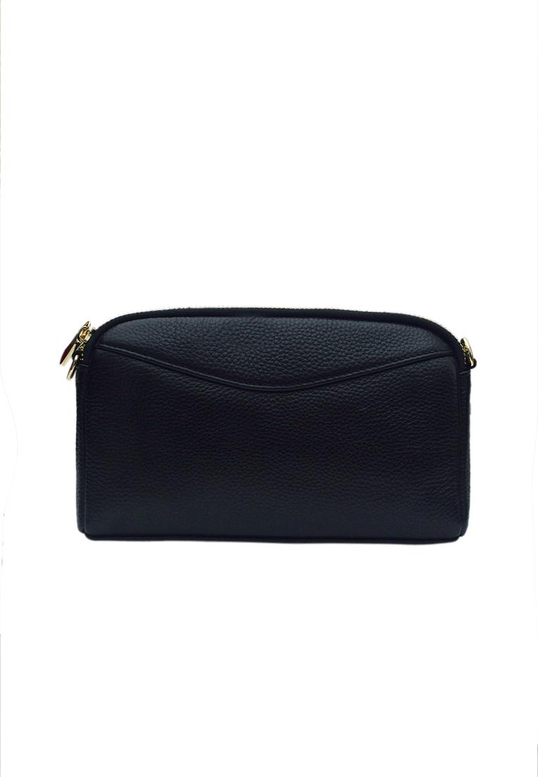 Túi đeo chéo nữ ELMI da bò cao cấp màu đen EB329