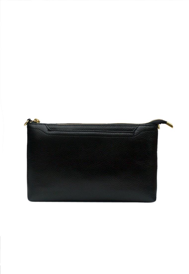 Túi đeo chéo nữ ELMI da bò cao cấp màu đen EB337