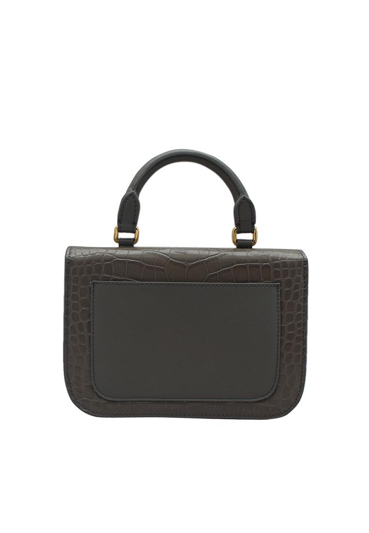 Túi xách nữ ELMI da bò thật cao cấp màu ghi EB56-1