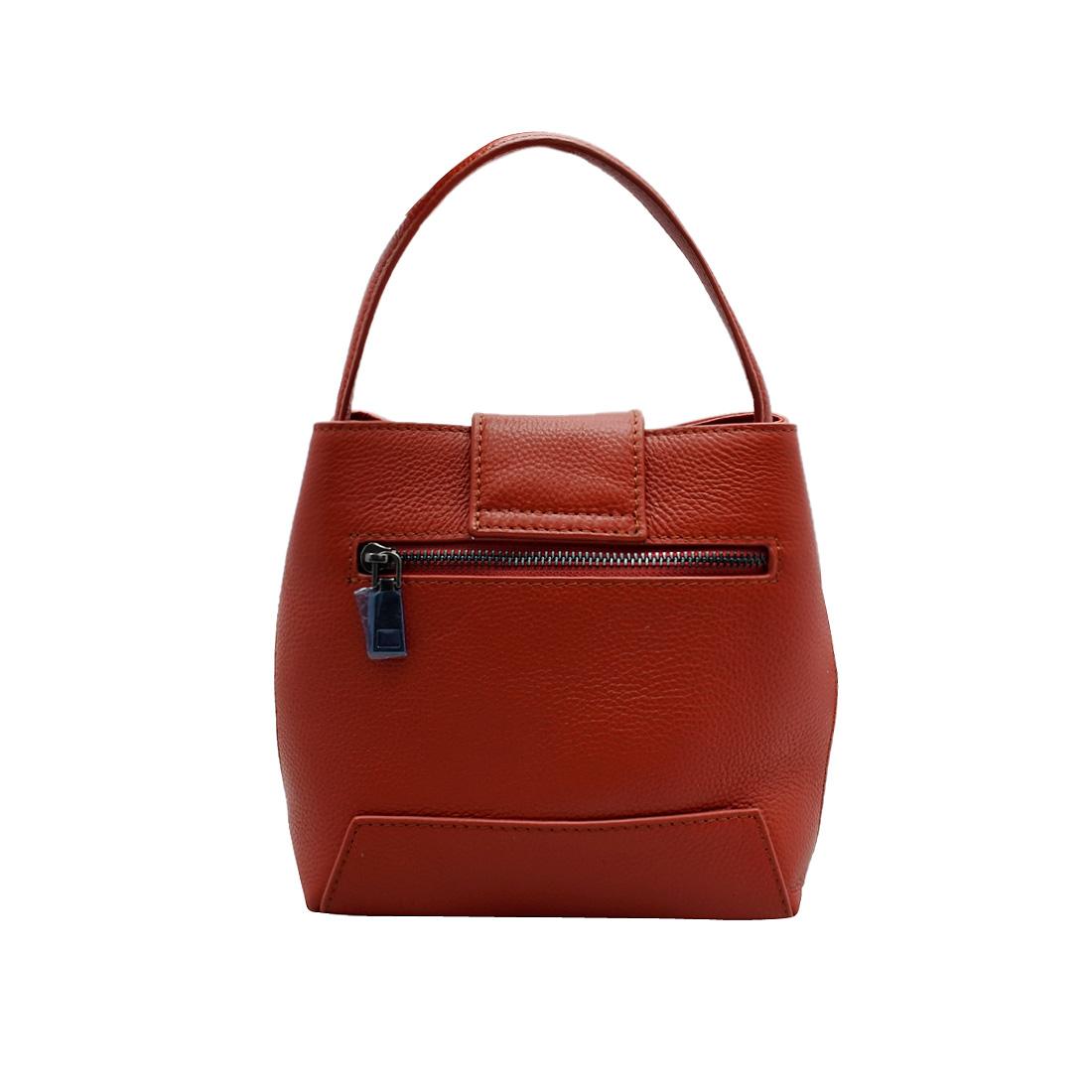 Túi xách nữ ELMI da bò thật cao cấp màu cam EB90