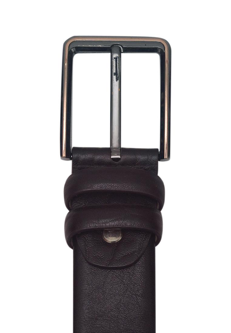 Dây lưng nam da bò thật cao cấp màu nâu ELMI EDM281