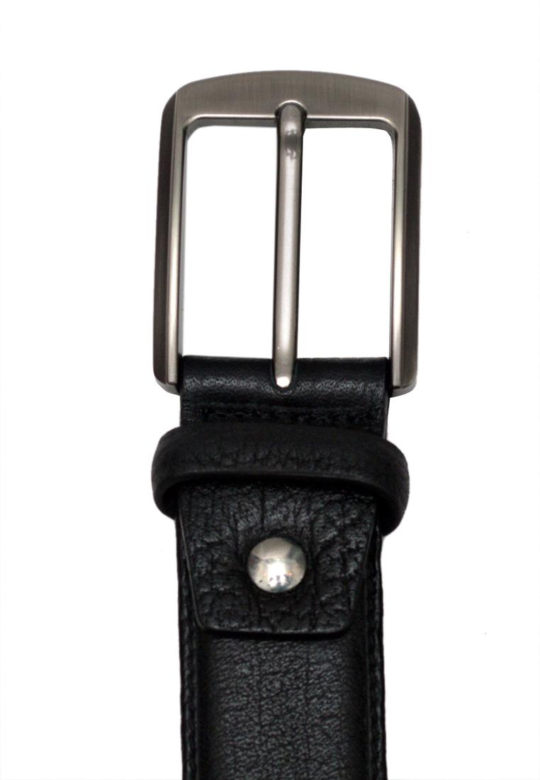 Dây lưng nam da bò thật cao cấp màu đen ELMI EDM300