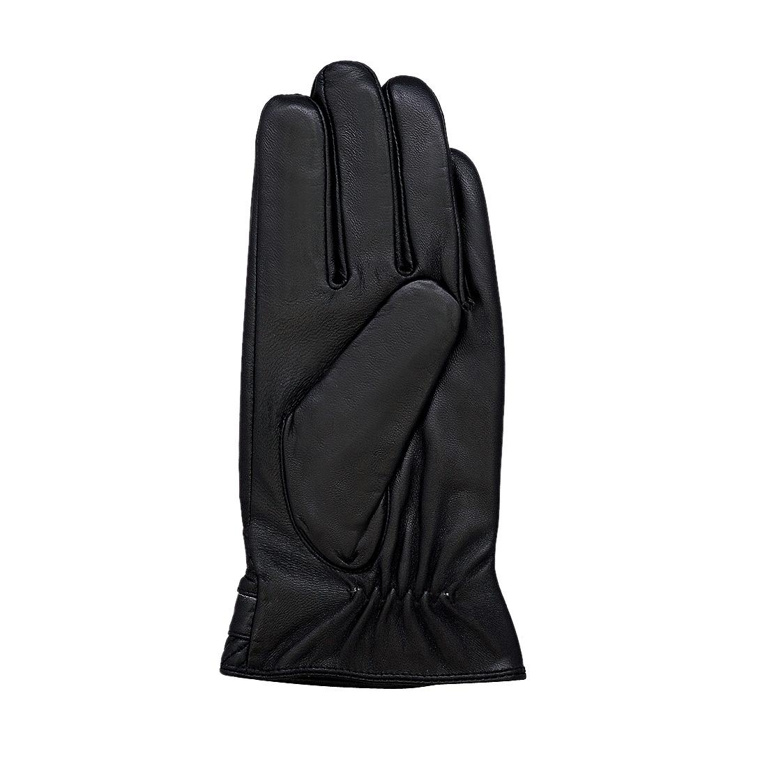 Găng tay nam da dê thật cao cấp màu đen EGM93