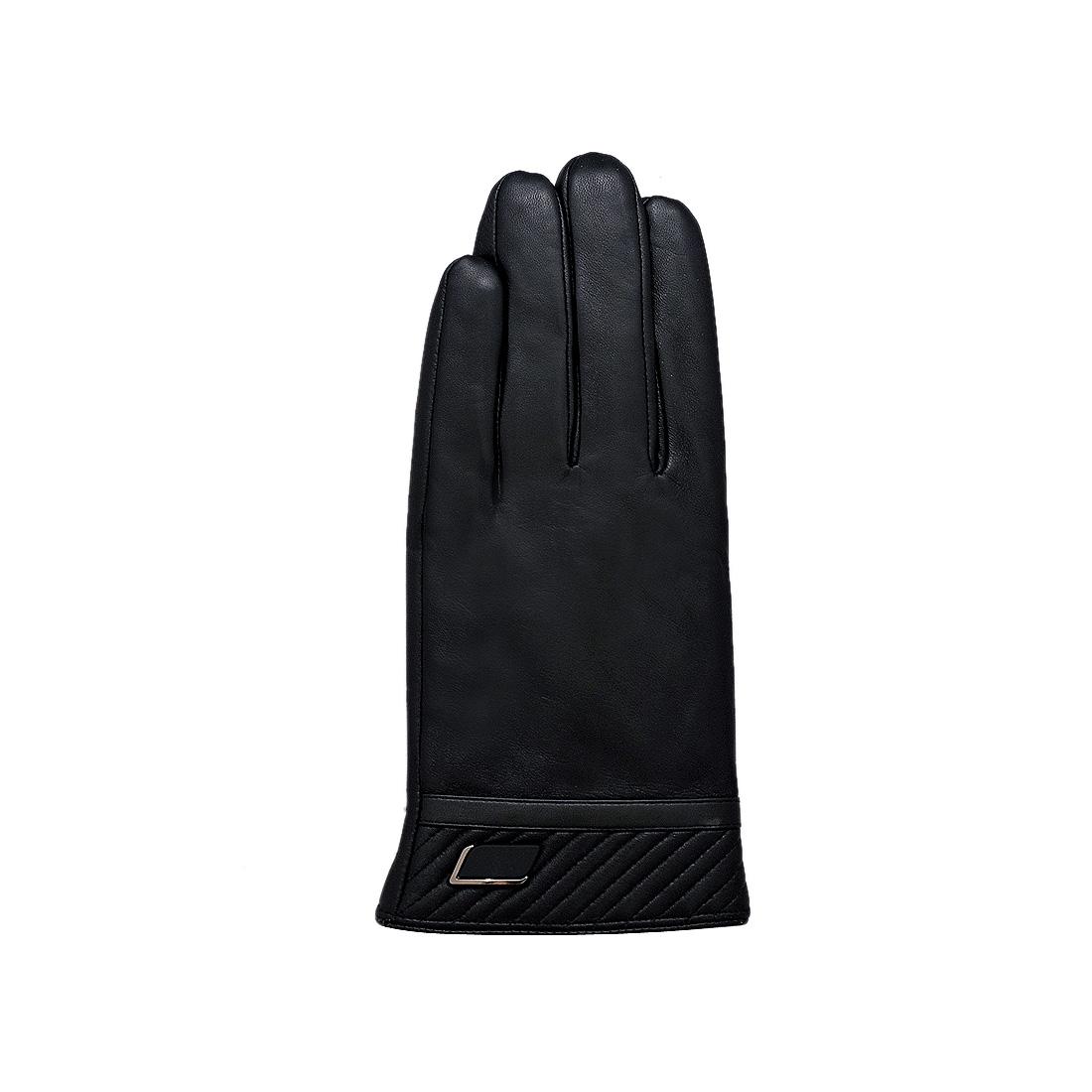 Găng tay nam da dê thật cao cấp màu đen EGM95