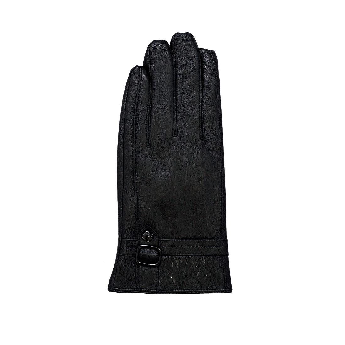 Găng tay nam da dê thật cao cấp màu đen EGM97