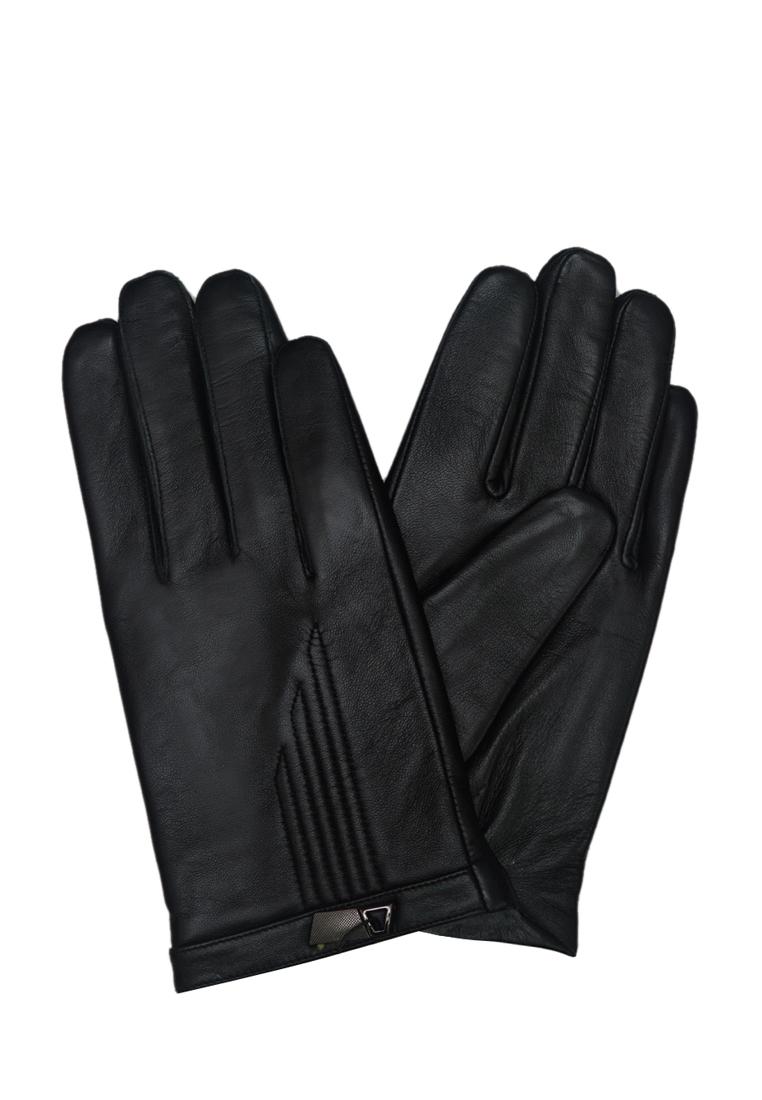 Găng tay nam ELMI da bò thật cao cấp màu đen EGM98