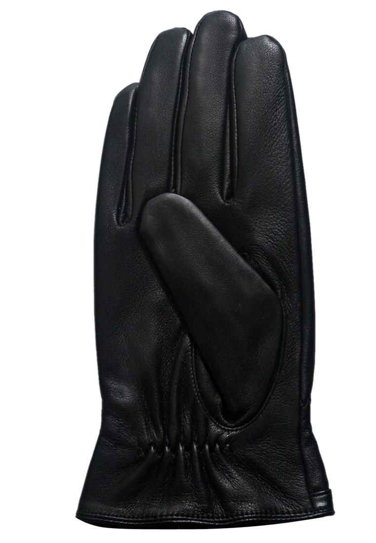 Găng tay nam ELMI da bò thật cao cấp màu đen EGM99