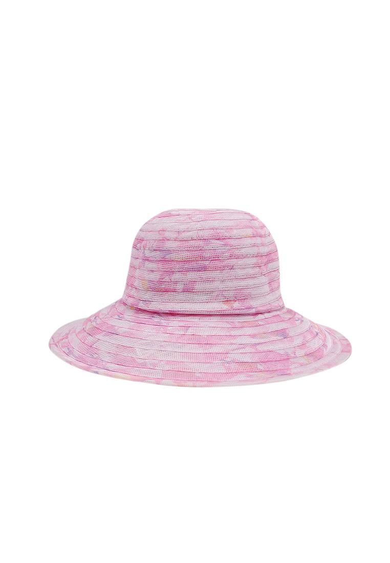 Mũ vành vải voan thời trang cao cấp màu hồng EH34-2