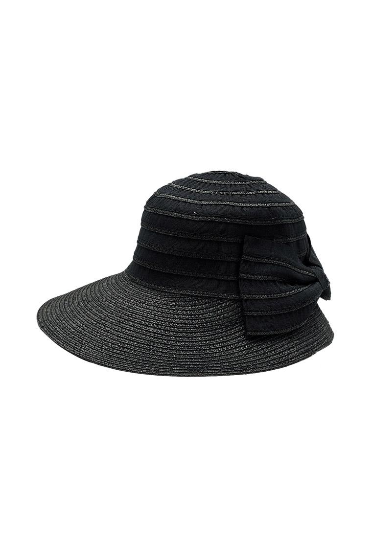 Mũ vành cói thời trang cao cấp màu đen EH35-4