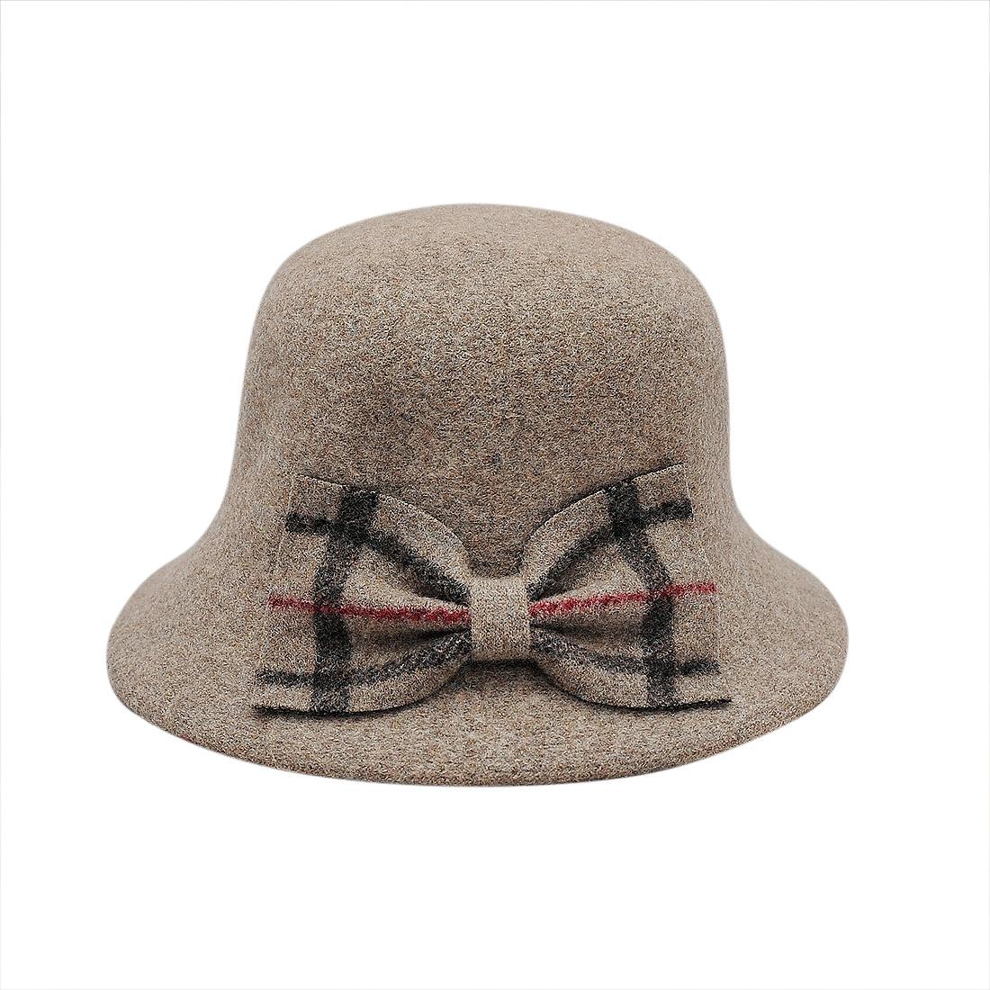 Mũ nữ vành dạ thời trang cao cấp màu xám EH38-4