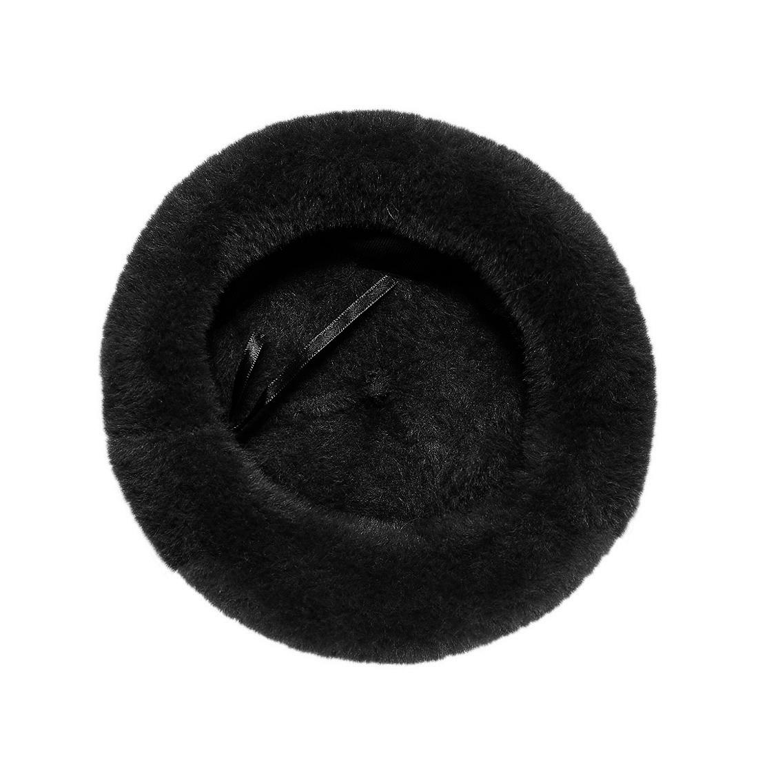 Mũ nồi len lông thời trang cao cấp màu đen EH40-1