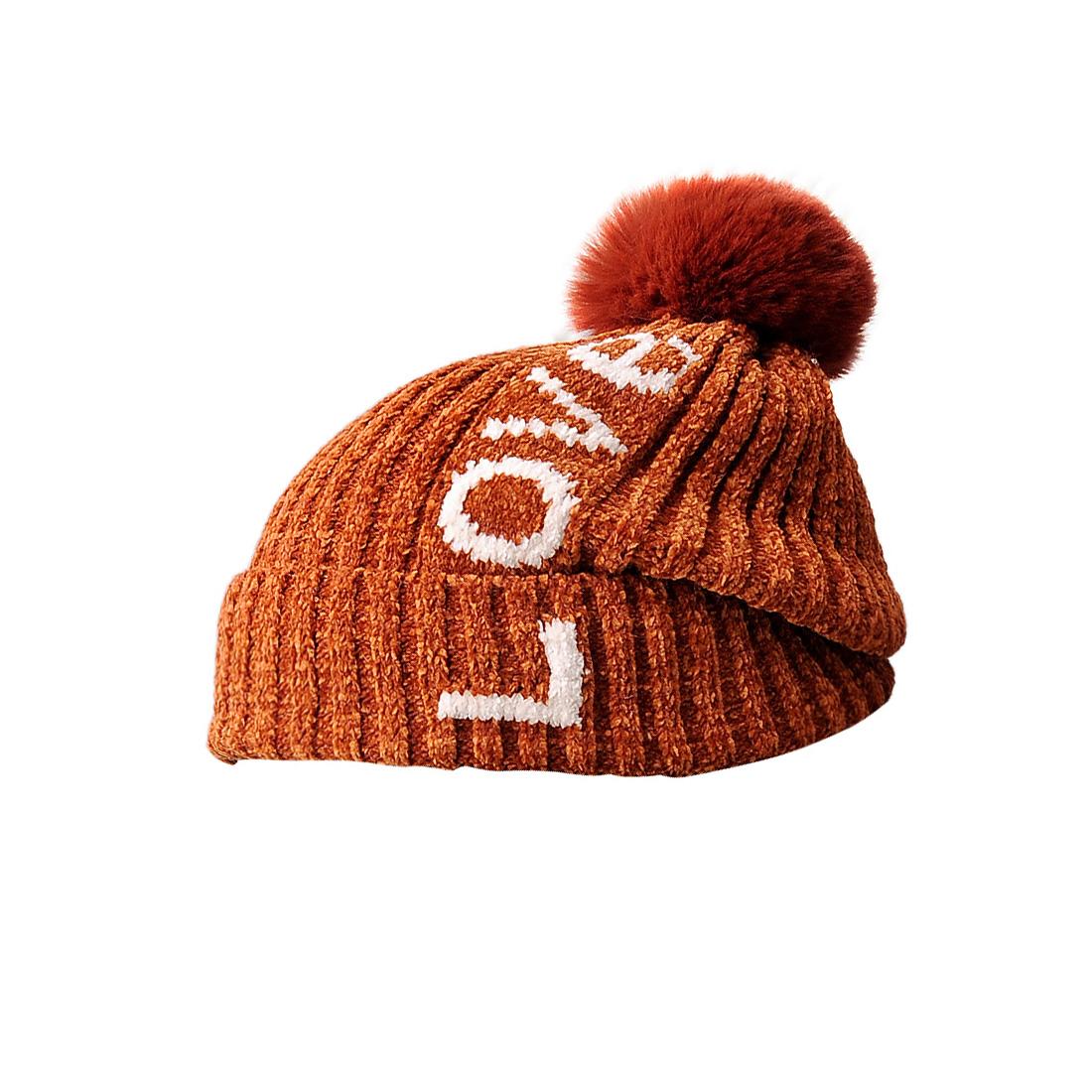 Mũ len thời trang cao cấp màu nâu EH46-4