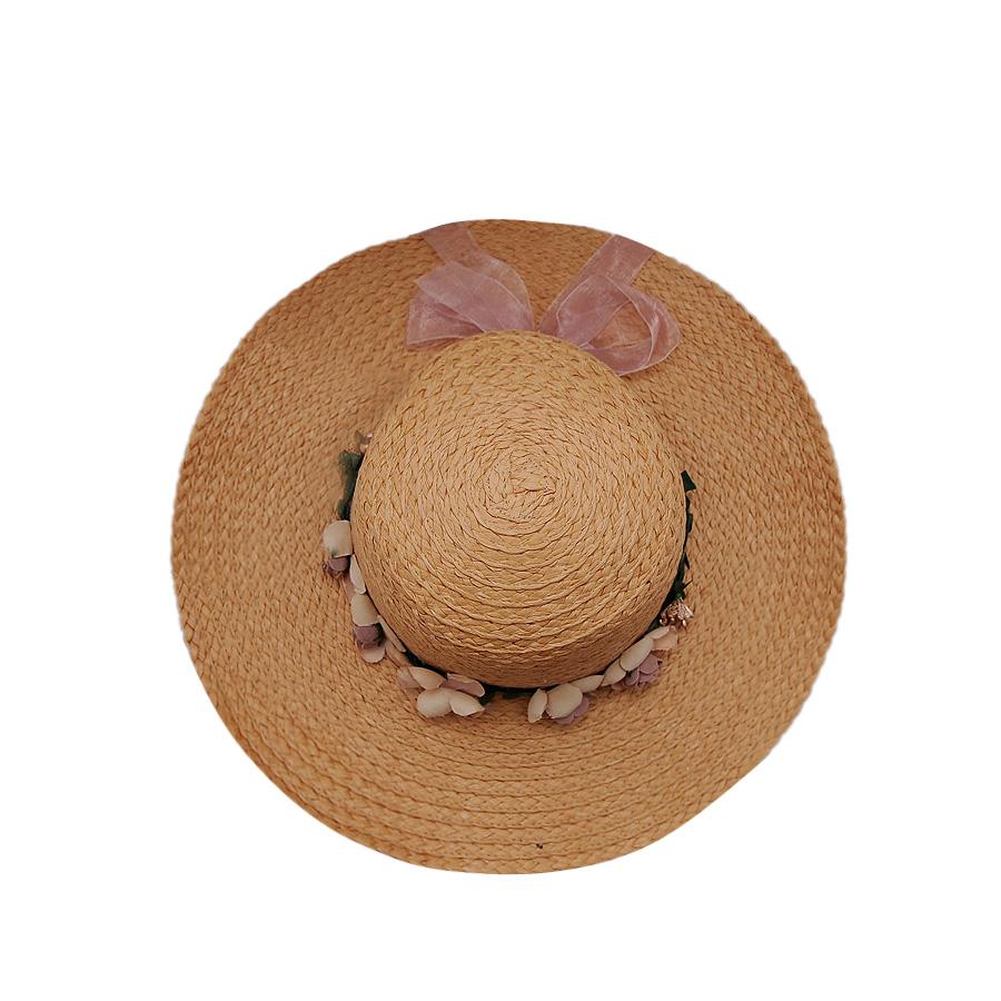 Mũ cói vành rộng thời trang cao cấp EH52-2. Vòng đầu: 50cm