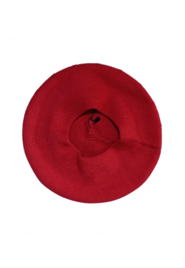 Mũ nồi len cao cấp màu đỏ EH55-3