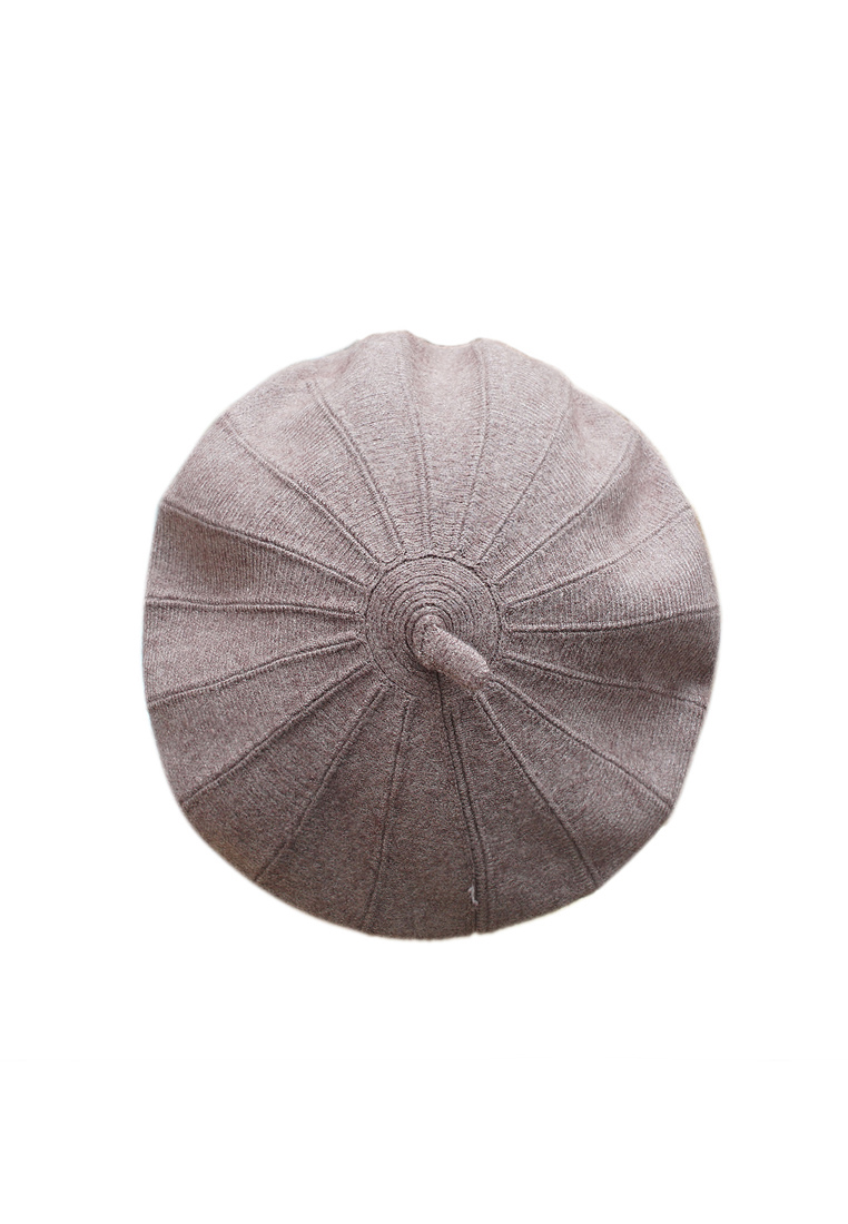 Mũ nồi len cao cấp màu nâu ghi EH55-4