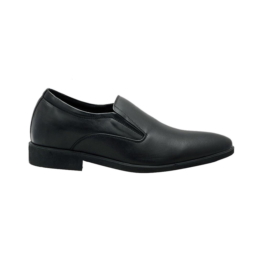 Giày tăng chiều cao nam da bò thật cao cấp màu đen ESM80