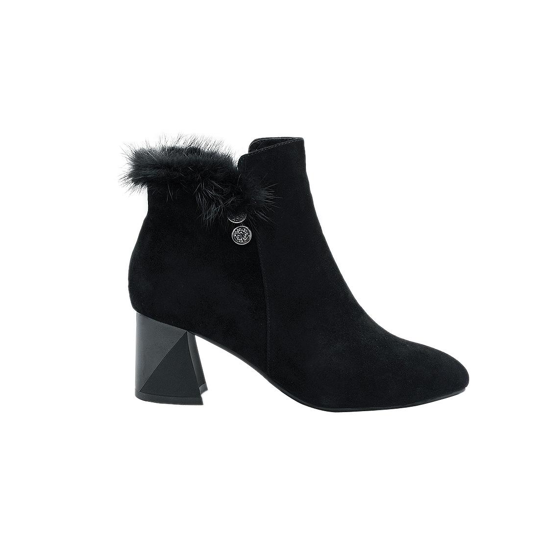 Giày bốt nữ da bò thật cao cấp ESW258