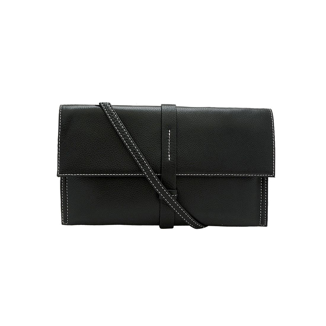 Túi đeo chéo nữ da bò thật cao cấp màu  đen ET265