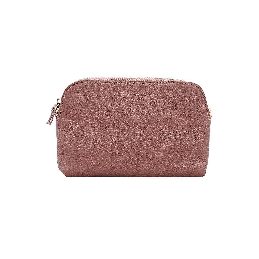 Túi đeo chéo nữ ELMI da bò thật cao cấp màu hồng ET593