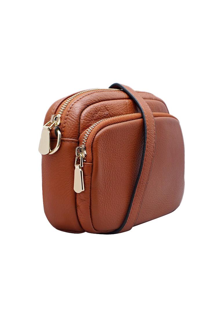 Túi đeo chéo nữ da bò thật cao cấp ELMI ET965