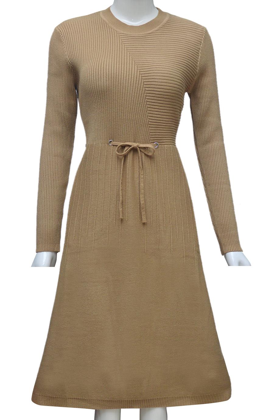 Váy len thời trang ELMI cao cấp màu vàng EV44-1